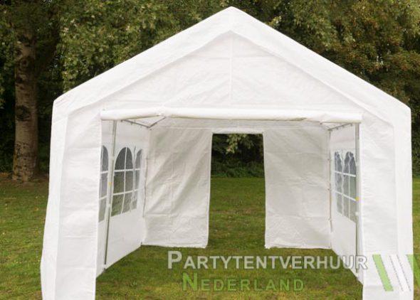 Partytent 3x3 meter voorkant met deur huren in Middelburg