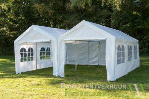Partytent 6x6 meter voorkant huren in Middelburg