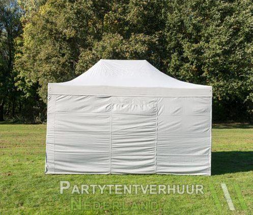 Easy up tent 3x4,5 meter achterkant huren in Den Bosch