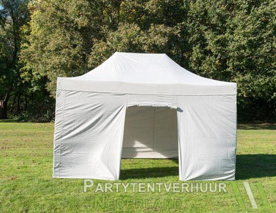 Easy up tent 3x4,5 meter voorkant huren in Den Bosch