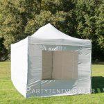 Easy up tent 3x4,5 meter voorkant schuin huren in Den Bosch