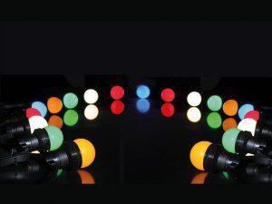 Feestverlichting met verschillende kleuren